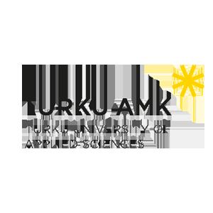 Turku AMKs logo with a link to the UAS webpage.