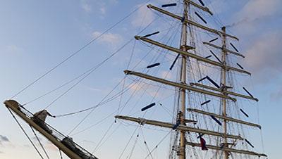 Ett segelfartygs master