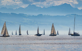 Image of sailing ships on the sea.