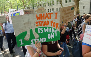 young people demonstrating.